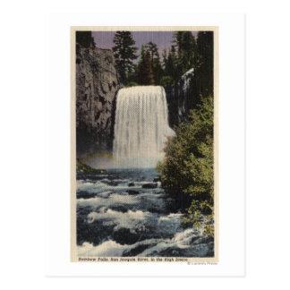 Vista de las caídas del río San Joaquin y del arco Tarjeta Postal