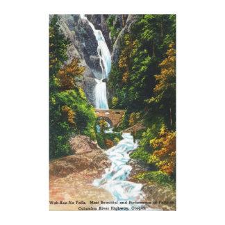 Vista de las caídas Wah-Kee-Na Impresión En Lienzo