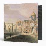 """Vista de las catedrales en la Moscú el Kremlin Carpeta 1 1/2"""""""