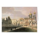 Vista de las catedrales en la Moscú el Kremlin Tarjeta De Felicitación
