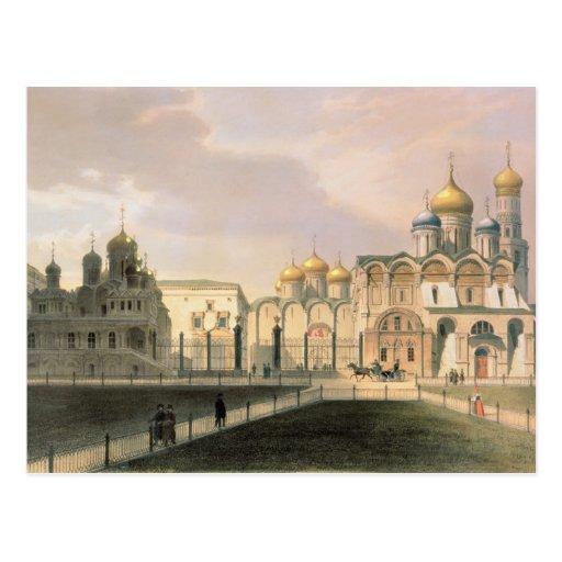 Vista de las catedrales en la Moscú el Kremlin Postal