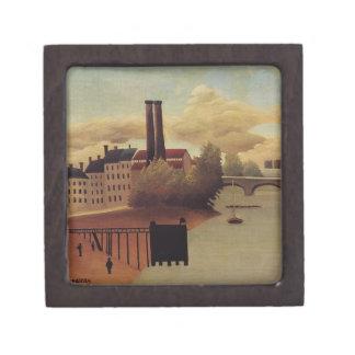 Vista de las cercanías de París de Henri Rousseau Caja De Joyas De Calidad
