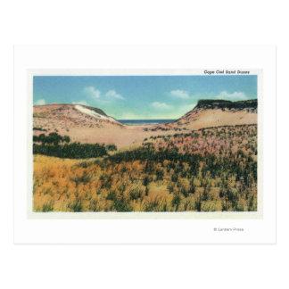 Vista de las dunas de arena de Cape Cod 2 Tarjeta Postal