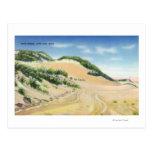 Vista de las dunas de arena de Cape Cod Tarjeta Postal