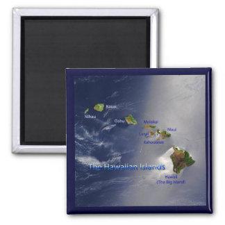 Vista de las islas hawaianas imán cuadrado