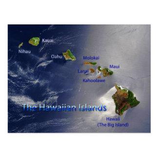 Vista de las islas hawaianas tarjetas postales