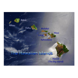 Vista de las islas hawaianas tarjeta postal
