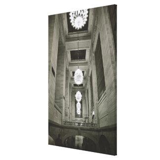 Vista de las lámparas (foto de b/w) impresión en lona estirada