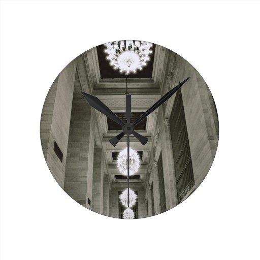 Vista de las lámparas (foto de b/w) relojes
