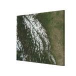 Vista de las montañas rocosas impresiones en lona