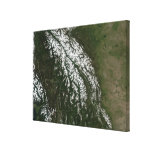 Vista de las montañas rocosas impresión en lona estirada