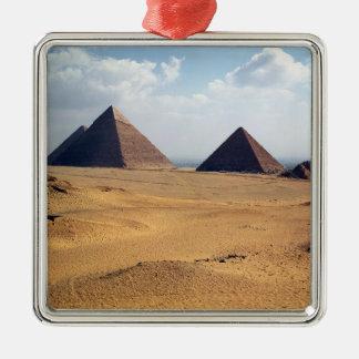 Vista de las pirámides de Cheops Adorno Para Reyes