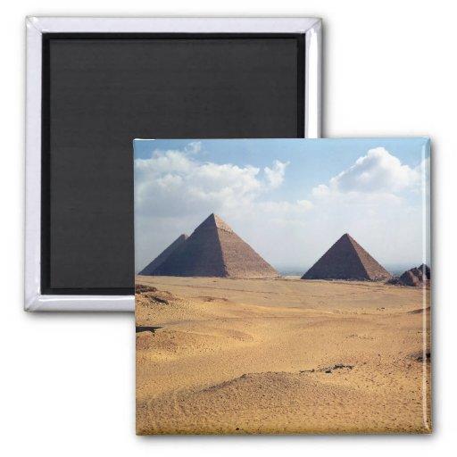 Vista de las pirámides de Cheops Imán Cuadrado