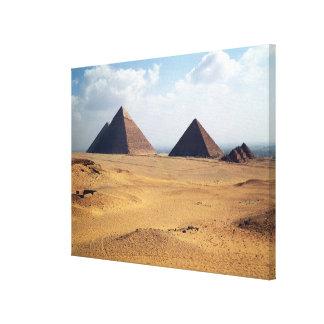 Vista de las pirámides de Cheops Impresiones De Lienzo