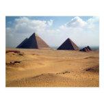 Vista de las pirámides de Cheops Postal