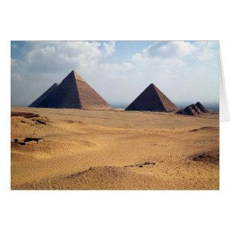 Vista de las pirámides de Cheops Tarjetas