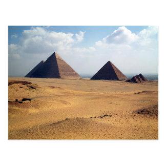 Vista de las pirámides de Cheops Tarjetas Postales