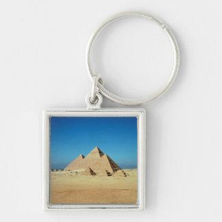 Vista de las pirámides llavero