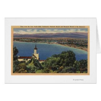 Vista de las playas de Redondo y de Hermosa, Calif Tarjeta De Felicitación