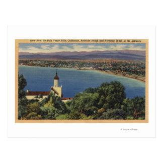 Vista de las playas de Redondo y de Hermosa, Postal