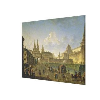 Vista de las puertas de Voskresensky y de Nikolsky Impresiones En Lienzo Estiradas