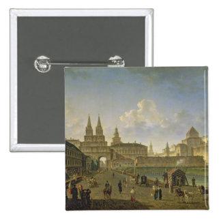 Vista de las puertas de Voskresensky y de Nikolsky Pin Cuadrado