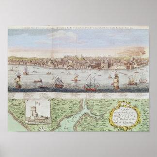 Vista de Lisboa, 1755 Póster