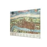 Vista de Londres, c.1560 Lona Envuelta Para Galerias