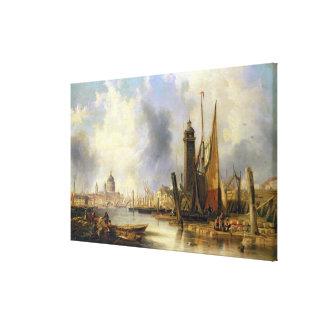 Vista de Londres con San Pablo Impresión En Lona Estirada
