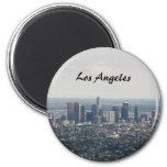 Vista de Los Ángeles céntrico Imán Redondo 5 Cm