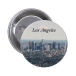 Vista de Los Ángeles céntrico Pin Redondo 5 Cm