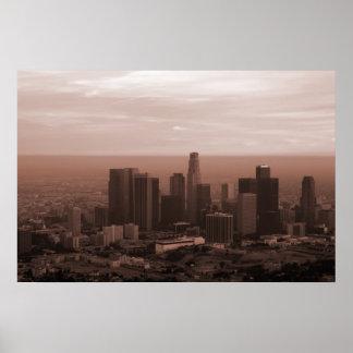 Vista de Los Ángeles Poster