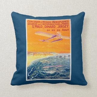 Vista de los aviones del flotador en poster del almohadas