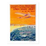 Vista de los aviones del flotador en poster del tarjeta postal