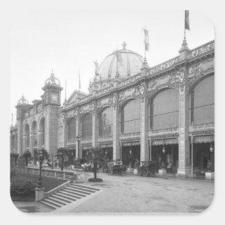 Vista de los Beaux-artes del DES de Palais Calcomania Cuadradas Personalizada