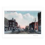 Vista de los carros de la calle principal y del ca postales