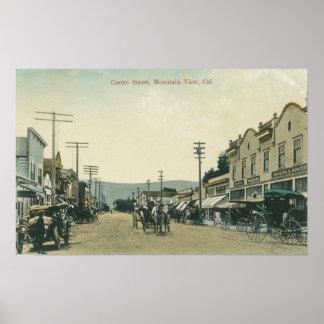 Vista de los carros del caballo en la calle de Cas Impresiones