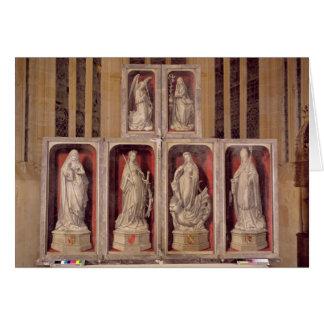 Vista de los paneles del altarpiece cerrado tarjeta de felicitación