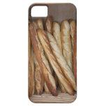 vista de los panes del pan en la exhibición de la  iPhone 5 protectores