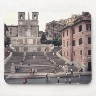 Vista de los pasos o del Scalinata del español Alfombrillas De Raton