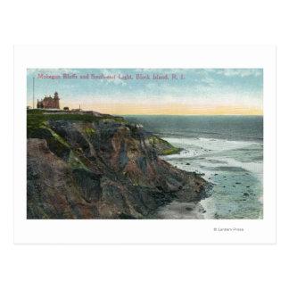 Vista de los pen¢ascos de Mohegan y suroriental Tarjeta Postal