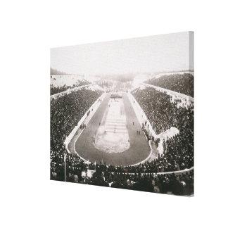 Vista de los primeros Juegos Olímpicos oficiales e Impresión En Lienzo Estirada