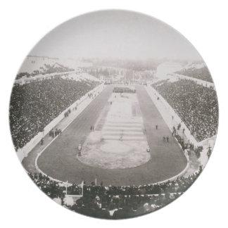 Vista de los primeros Juegos Olímpicos oficiales e Platos