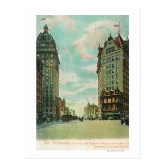 Vista de los rascacielos que sobrevivieron 1906 tarjetas postales