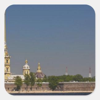 Vista de los santos Peter y de la catedral 2 de Pegatina Cuadrada