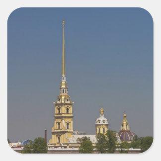 Vista de los santos Peter y de la catedral de Paul Pegatina Cuadrada