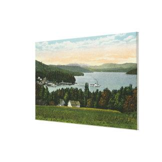 Vista de los vertederos lienzo envuelto para galerías
