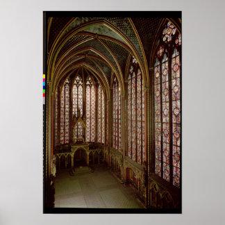 Vista de los vitrales póster