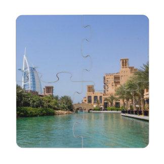 Vista de Madinat Jumeirah, Dubai Posavasos De Puzzle