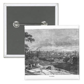 Vista de Manchester, grabada por T.Gustyne Pin Cuadrado
